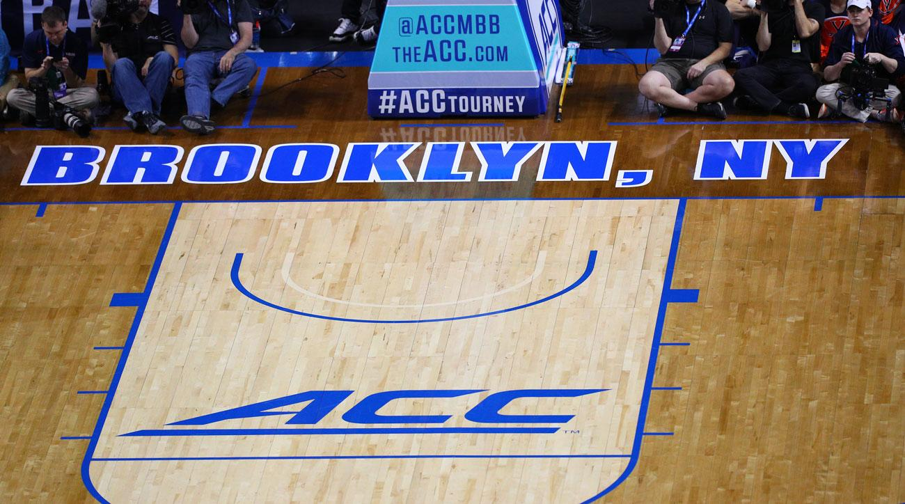 photo about Printable Acc Men's Basketball Schedule known as ACC mens basketball detailed meeting program, Television