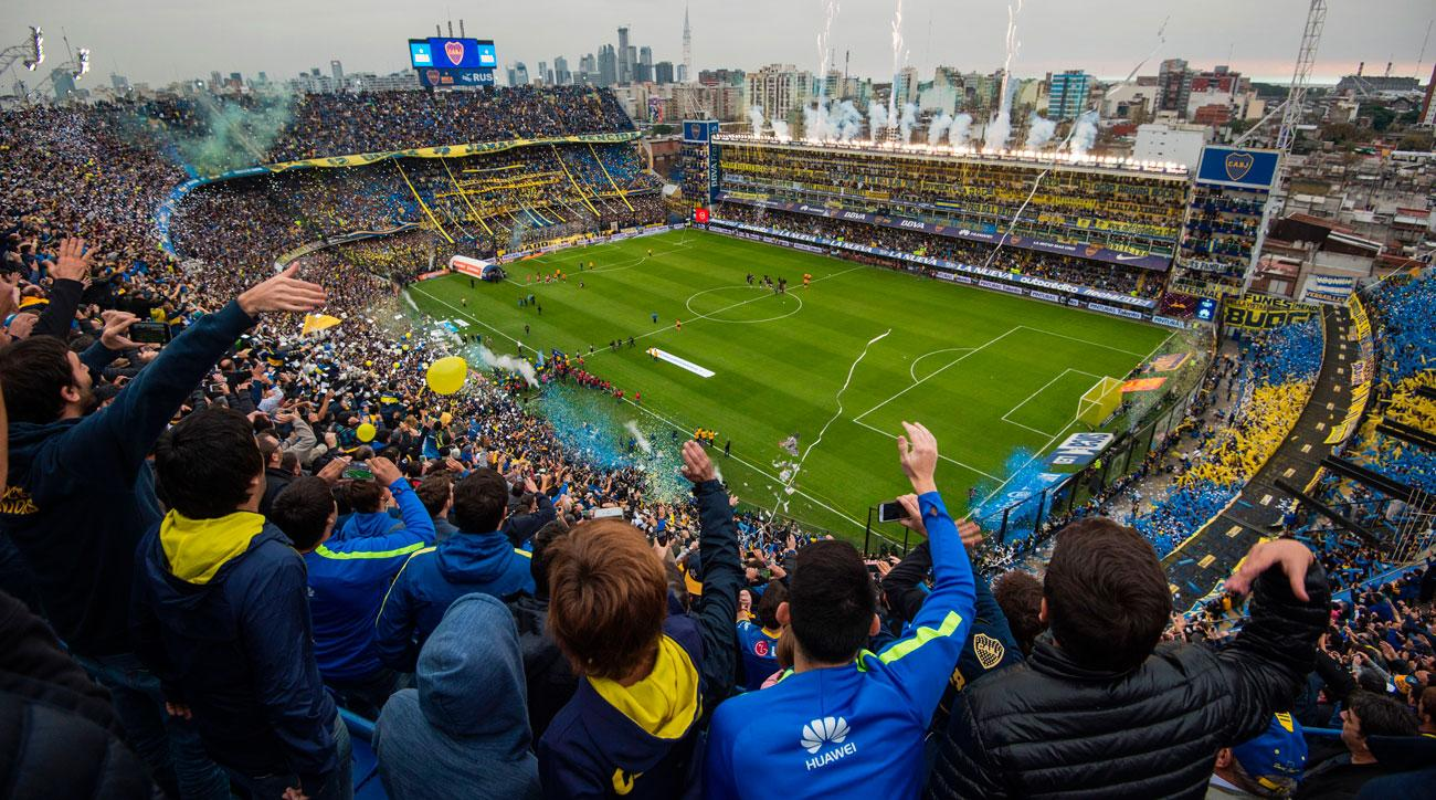 Boca Juniors plays in La Bombonera