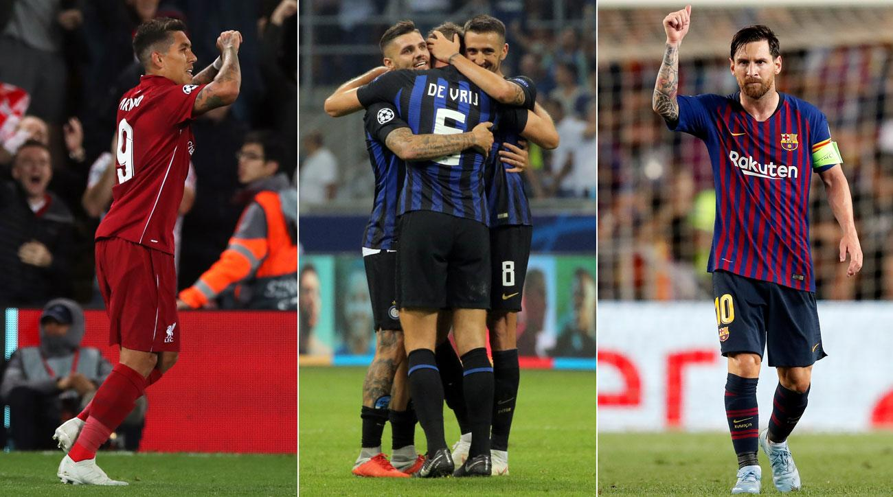 Liverpool, Inter Milan and Barcelona all open Champions League play with wins