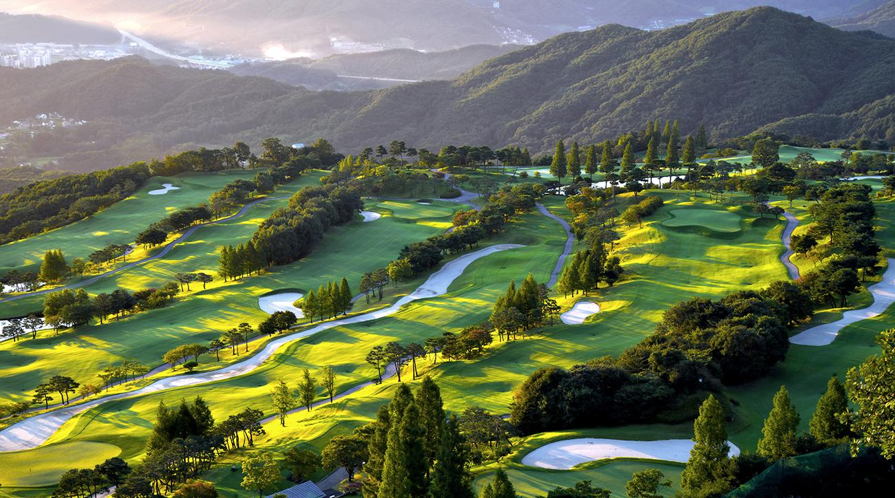 A golf course in Seoul, South Korea.