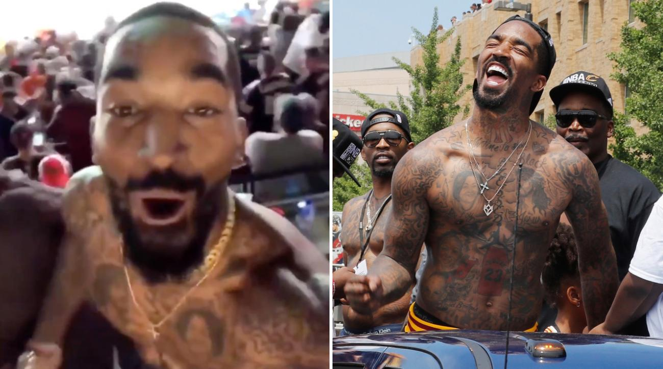 Browns win over Jets, JR Smith takes shirt off (video)
