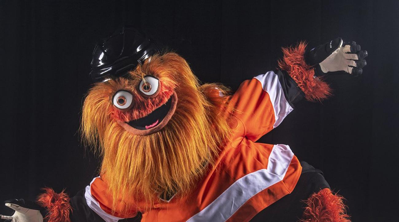 image relating to Philadelphia Flyers Printable Schedule identified as Philadelphia Flyers mascot Gritty debuts (pics, online video