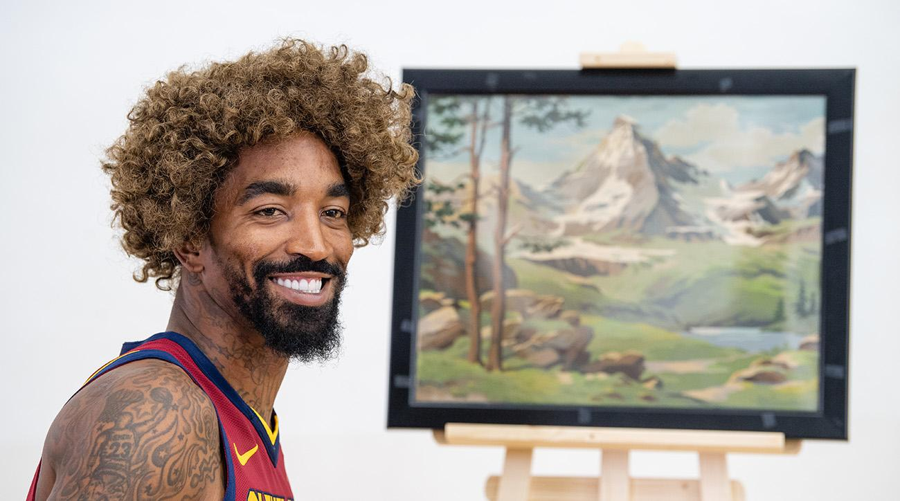 JR Smith dressed as painter Bob Ross for Cavs media day | SI com