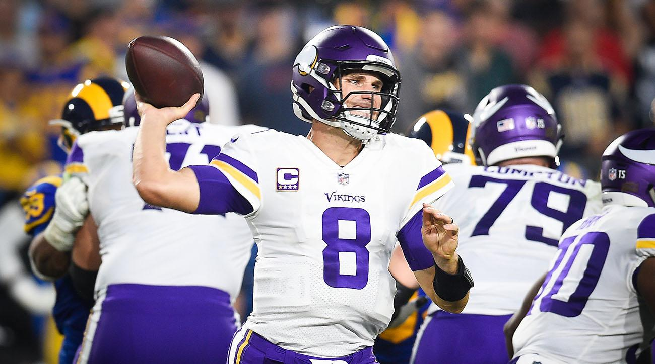 vikings, rams, thursday night football, kirk cousins, jared goff