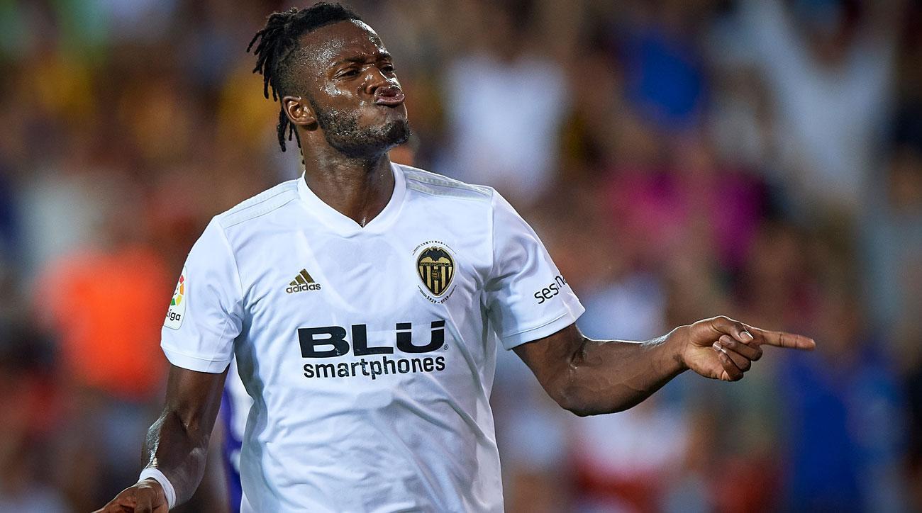 Michy Batshuayi is on loan at Valencia