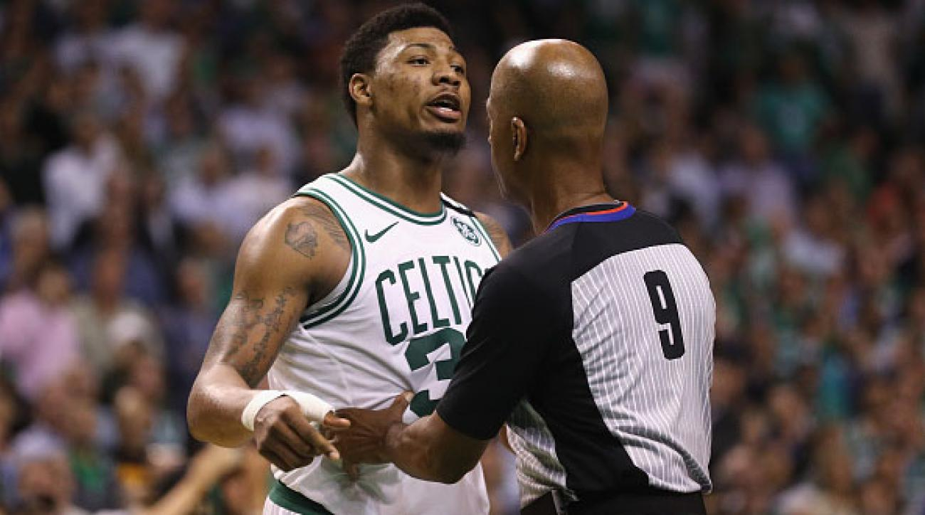 0c19a529d Marcus Smart ejected after J.R. Smith