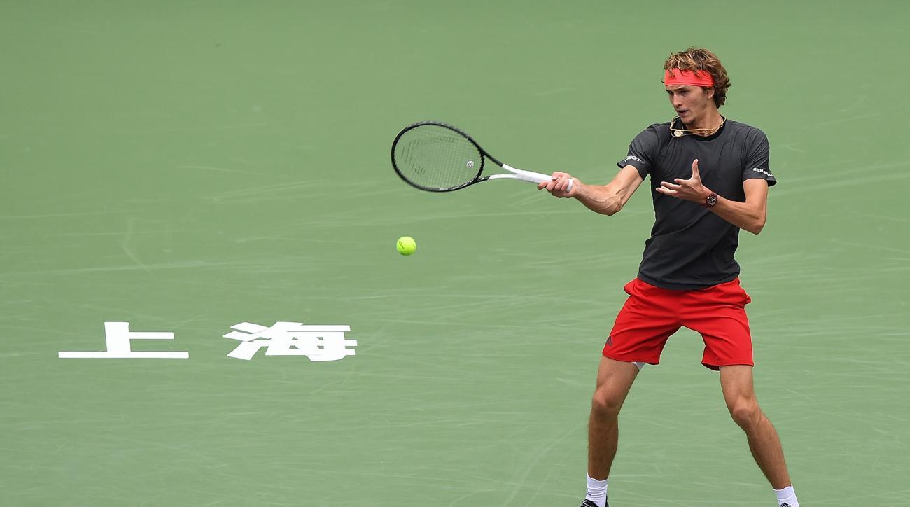 Alex Zverev Nikoloz Basilashvili Shanghai Masters