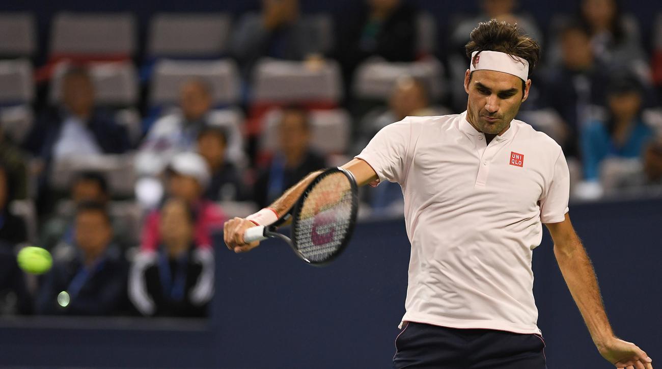 Roger Federer Roberto Bautista Agut Shanghai Masters