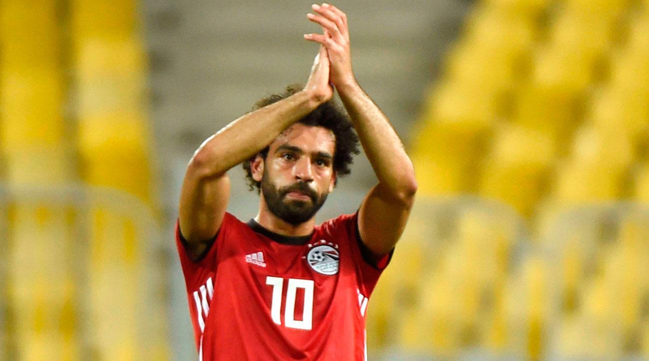 Mohamed Salah scores an Olimpico for Egypt