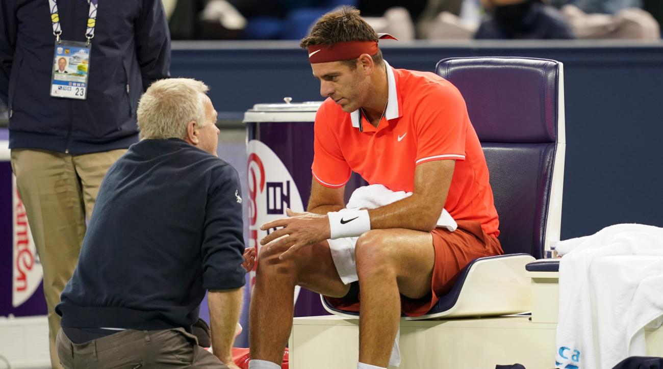 Juan Martin Del Potro fractured knee in match on Thursday