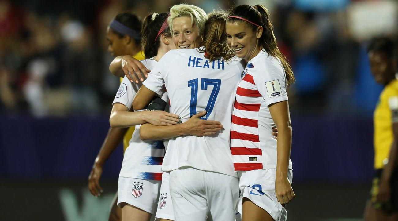 Uswnt 6 Jamaica 0 Usa Clinches Women S World Cup Berth Video