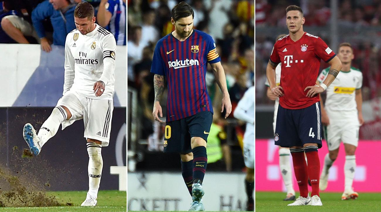 Real Madrid, Barcelona and Bayern Munich have fallen on uncharacteristically tough times