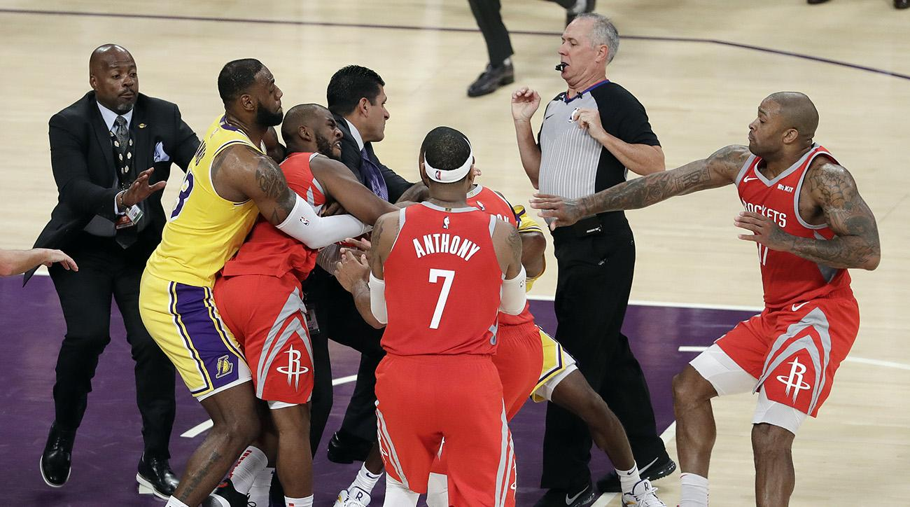 Brawl Between Rockets and Lakers Casts Shadow Over LeBron James's Debut in L.A.