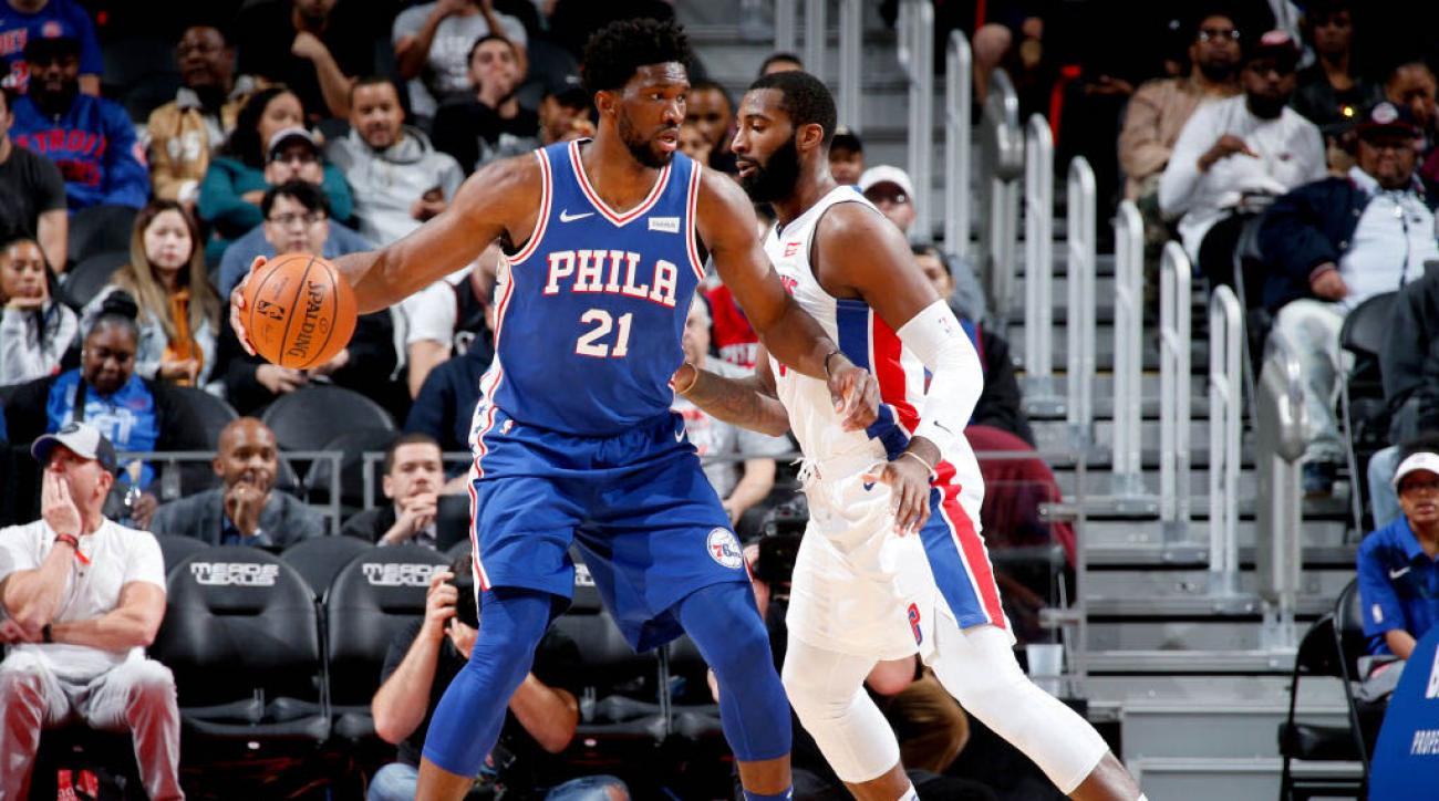 Philadelphia 76ers v Detroit Pistons