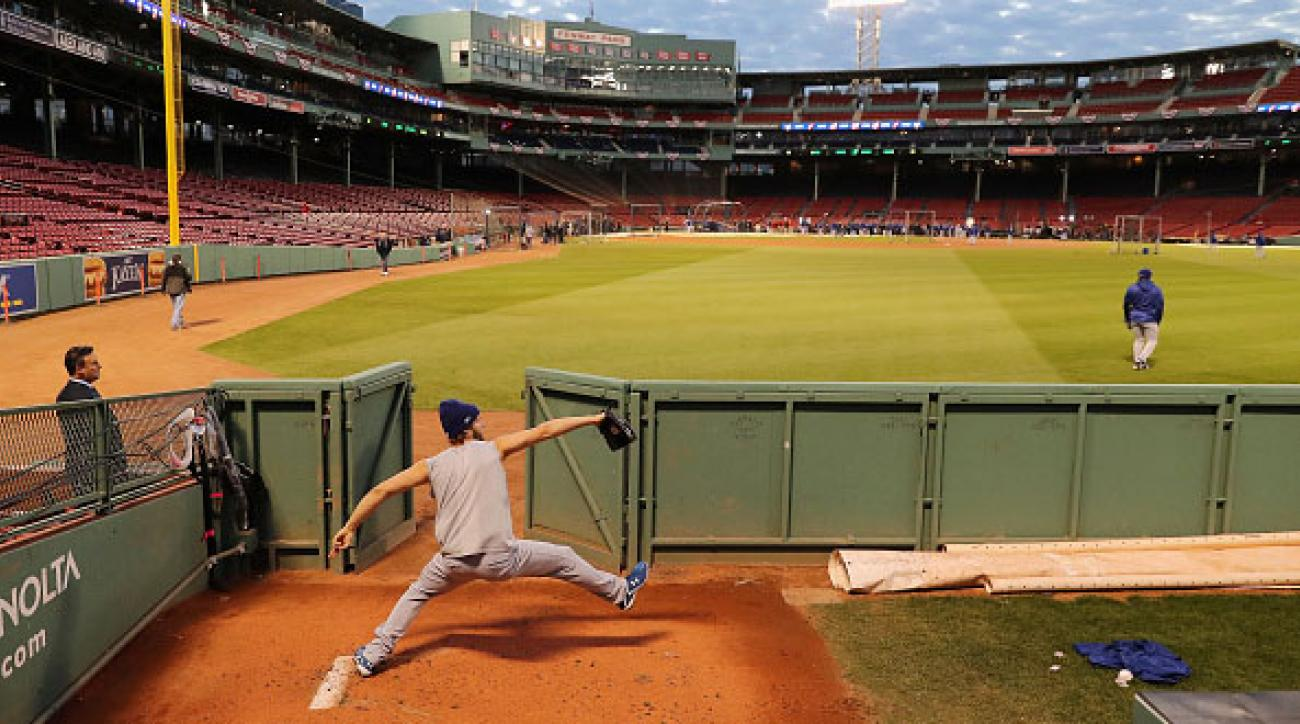 dodgers complain bullpen fenway too close to fans