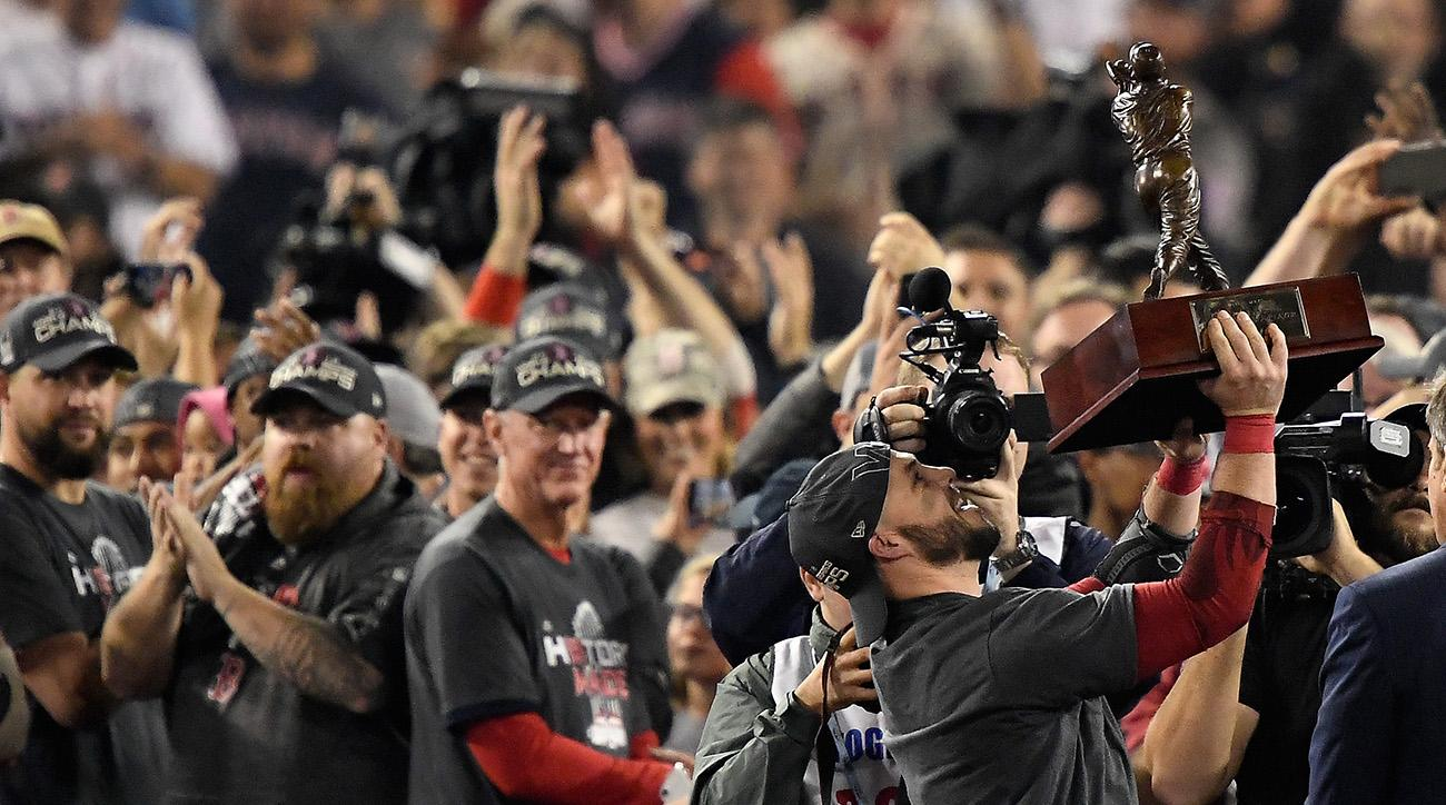 steve pearce, red sox, 2018 world series, red sox win 2018 world series, dodgers, steve pearce MVP