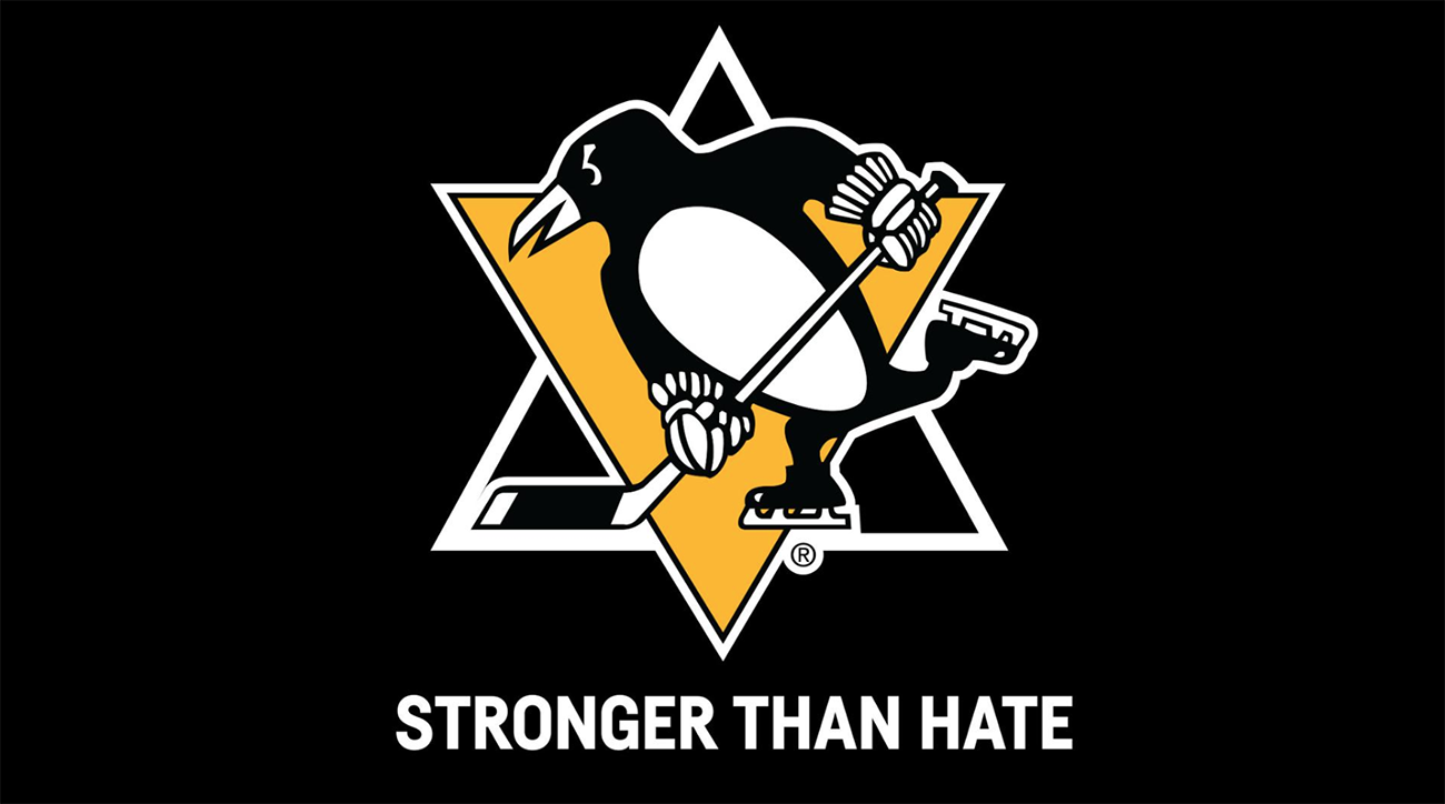 penguins, pittsburgh penguins, stronger than hate, islanders, Tree of Life Synagogue, Squirrel Hill shooting, Tree of Life Synagogue shooting