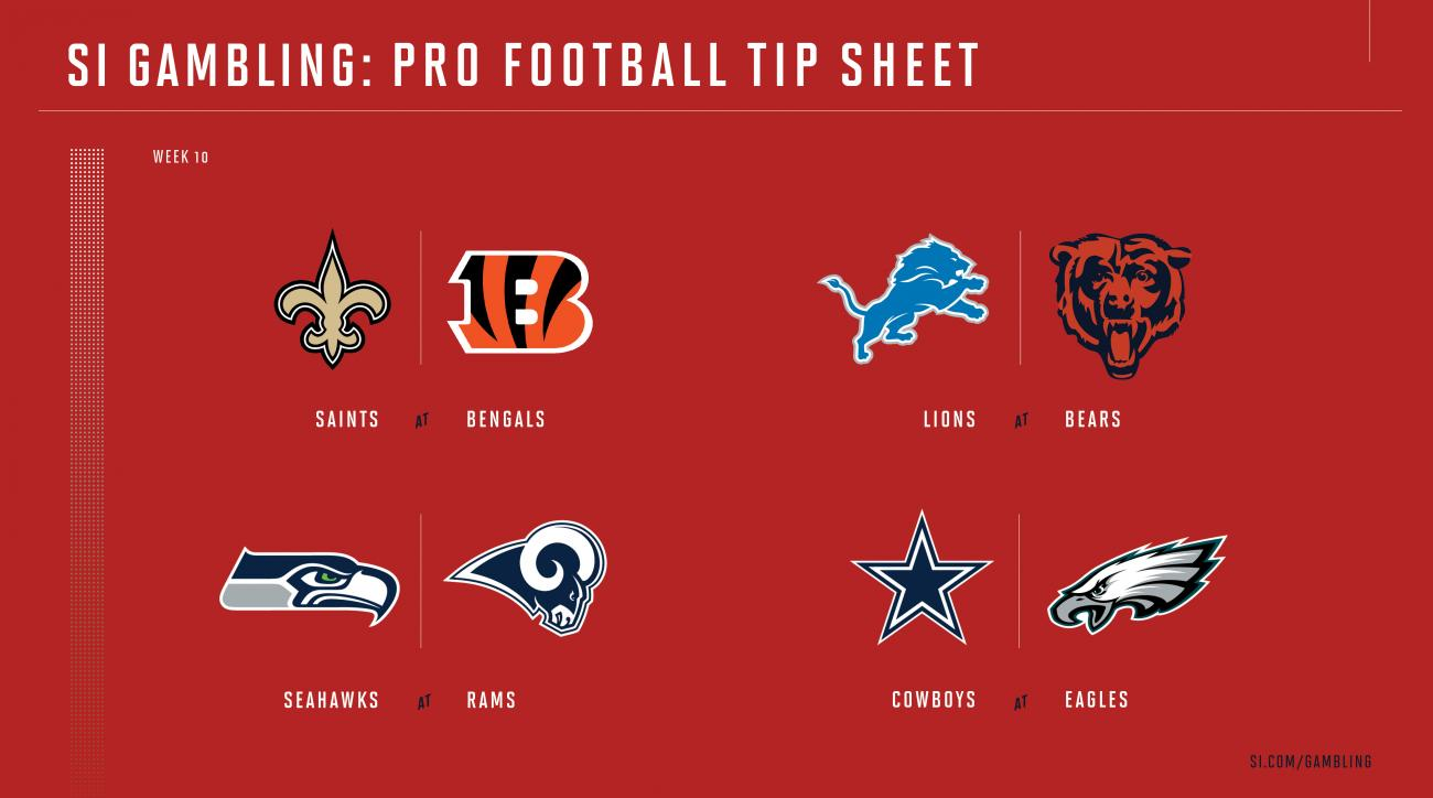 photograph about Nfl Week 10 Printable Schedule named NFL 7 days 10 betting marketing consultant: Chances, choices for just about every video game