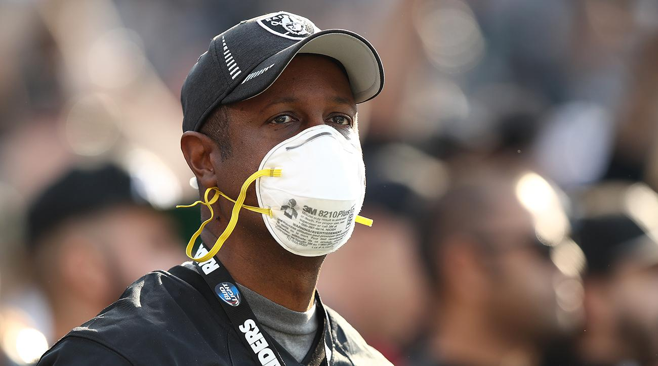 rams seahawks, southern california wildfires, california wildfire, los angeles rams, oakland raiders, san francisco 49ers, raiders hand out masks