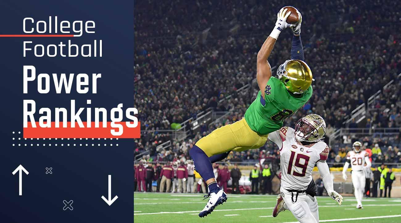 College football power rankings: Notre Dame, Alabama, Clemson lead Top 25