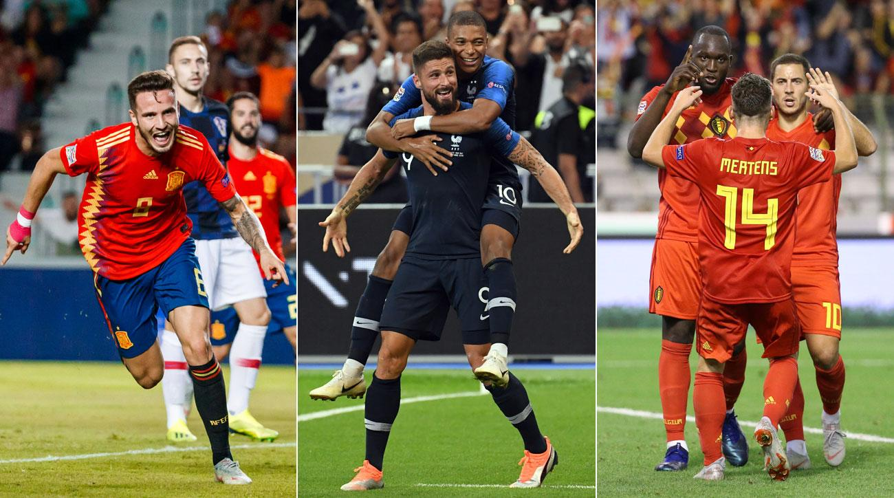 Spain, France and Belgium could all win their Nations League groups