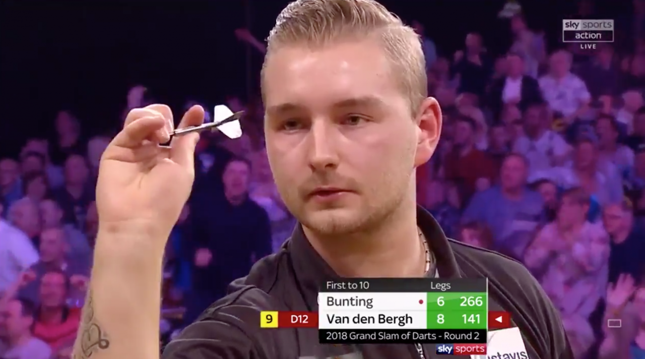 Dimitri Van den Bergh nine-darter wows fans at Grand Slam of Darts