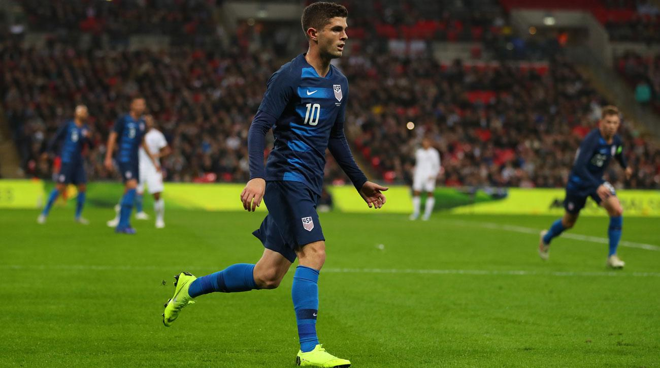 Christian Pulisic and the USMNT take on Italy