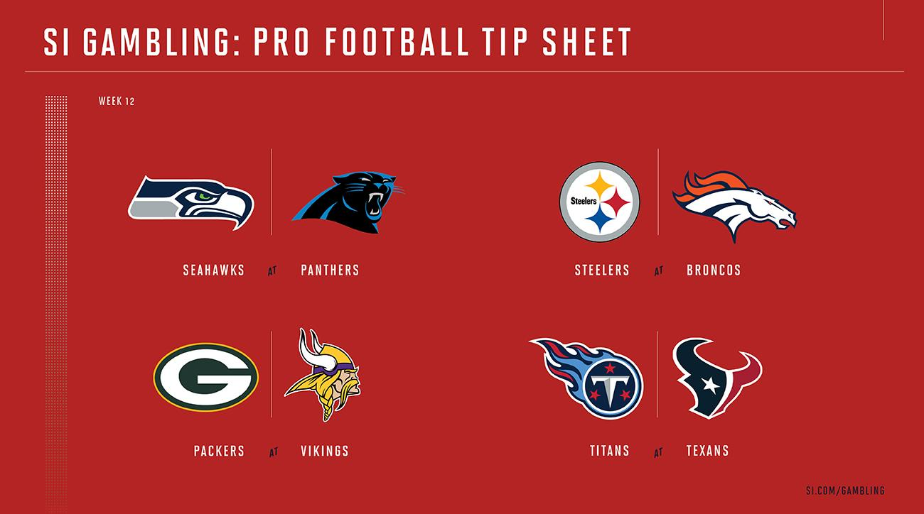 NFL Week 12 betting guide: Odds, picks for every game