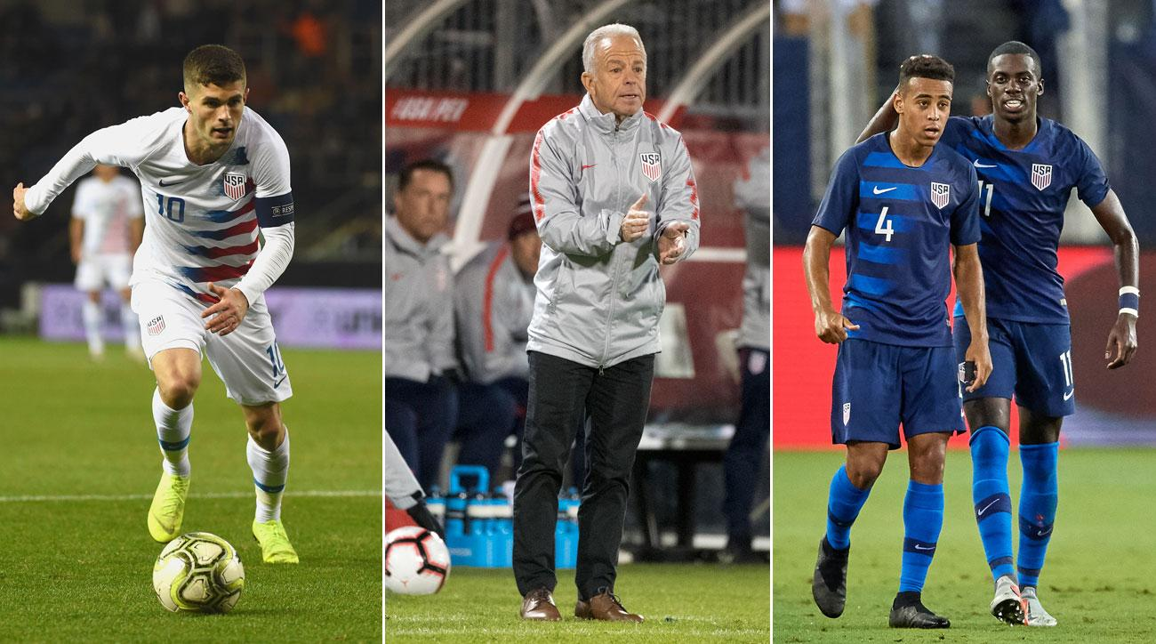 The USMNT went 3-5-3 in 2018