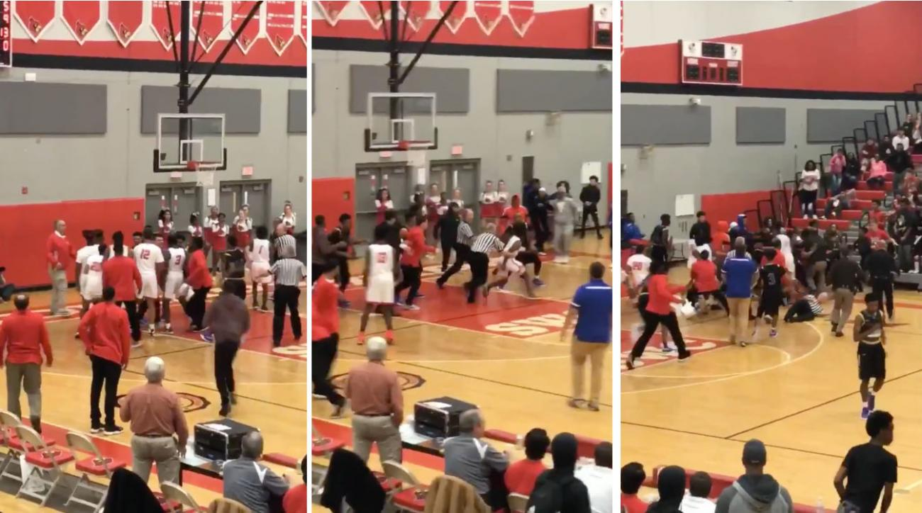 Video: Brawl Spills Into Stands After Punches Thrown During High School Basketball Tournament