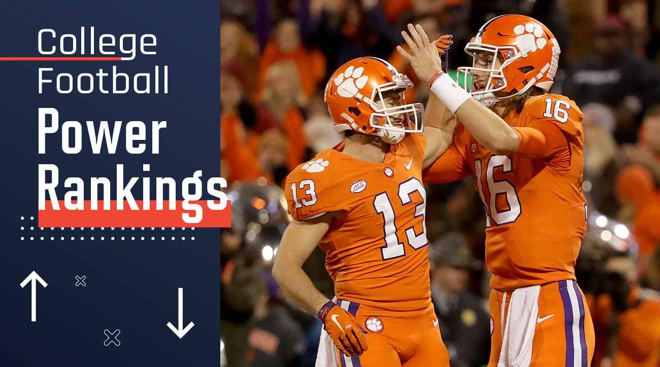 College football Power Rankings: Clemson, Alabama, Georgia, Notre Dame