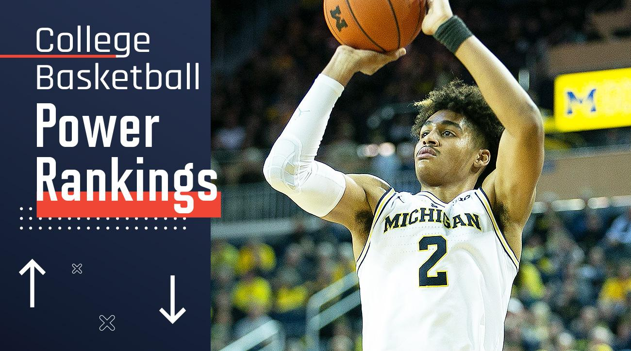 College Basketball Rankings Michigan Continues Top 25 Climb Si Com