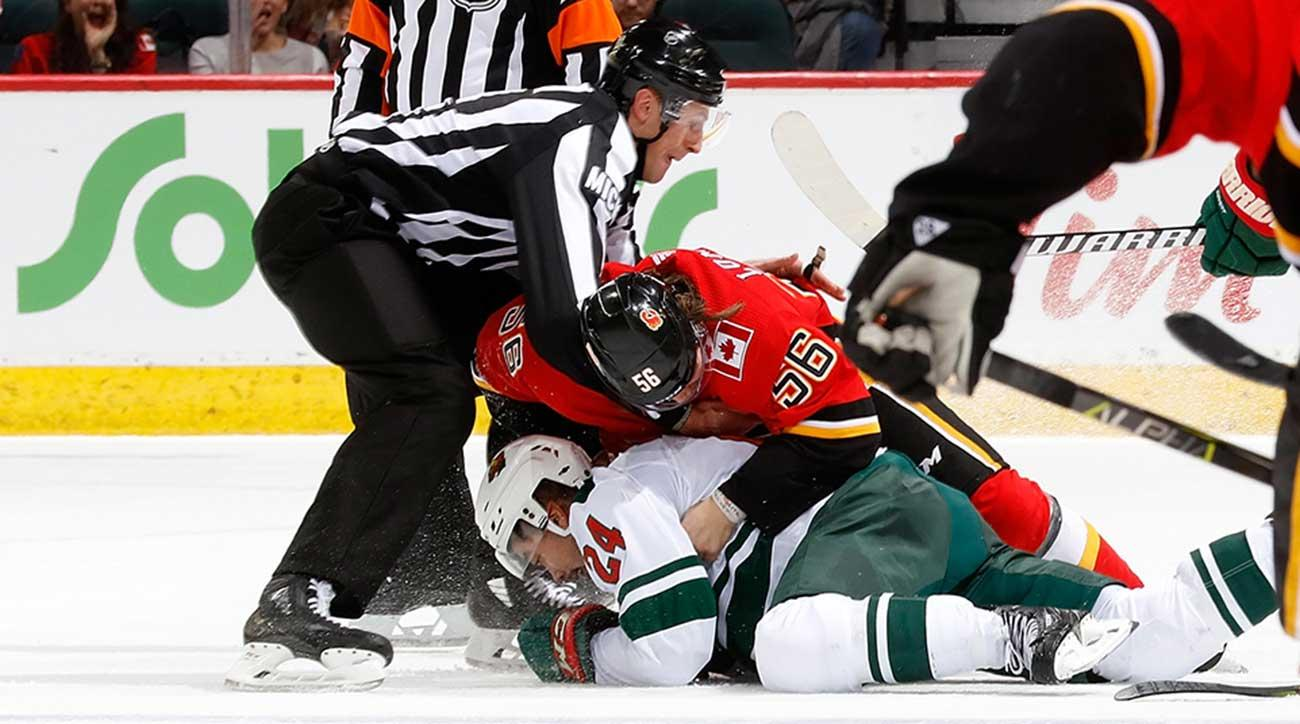 Lindholm tallies twice as Flames blank Wild
