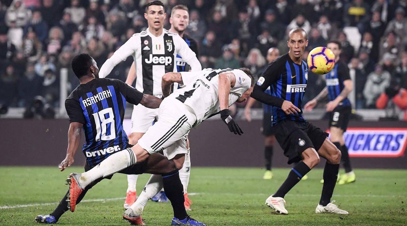 Juventus 1 Inter Milan 0 Mandzukic Heads Home Winner Video Si Com