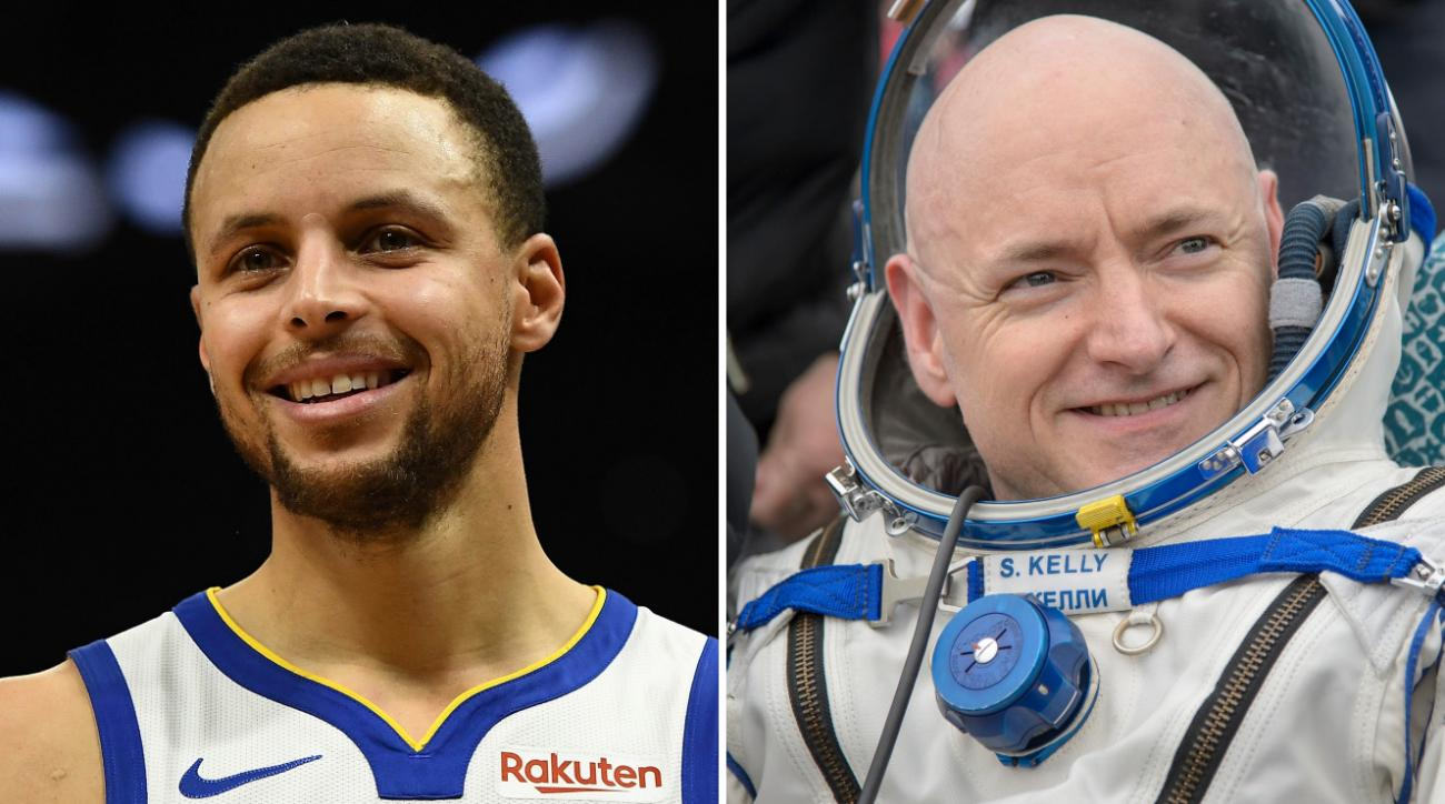 Stephen Curry interviews astronaut Scott Kelly (video)