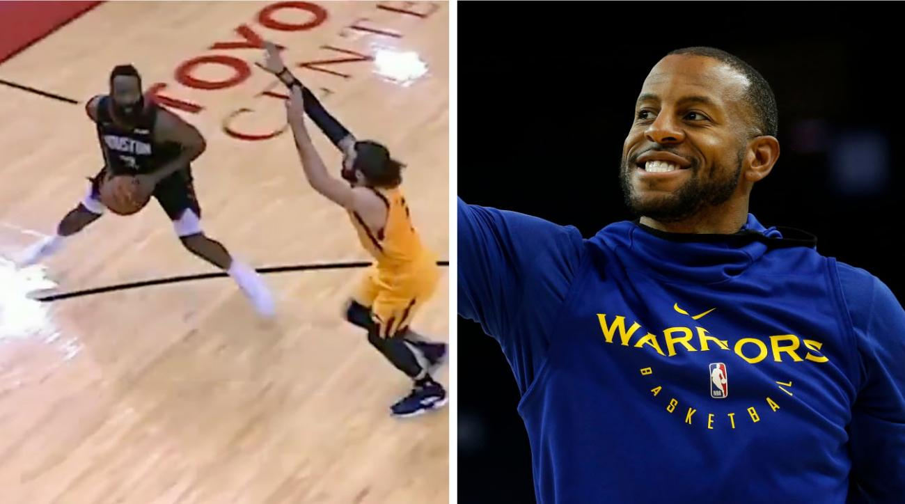 Andre Iguodala comments on James Harden step back