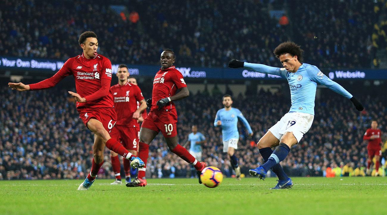 Leroy Sane scores for Man City vs. Liverpool