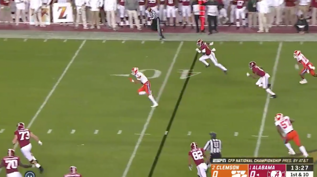 Low Tide for Justin Thomas as Alabama gets crushed by Clemson