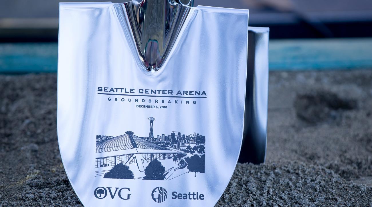 NHL: DEC 05 Seattle Center Arena Groundbreaking Ceremony