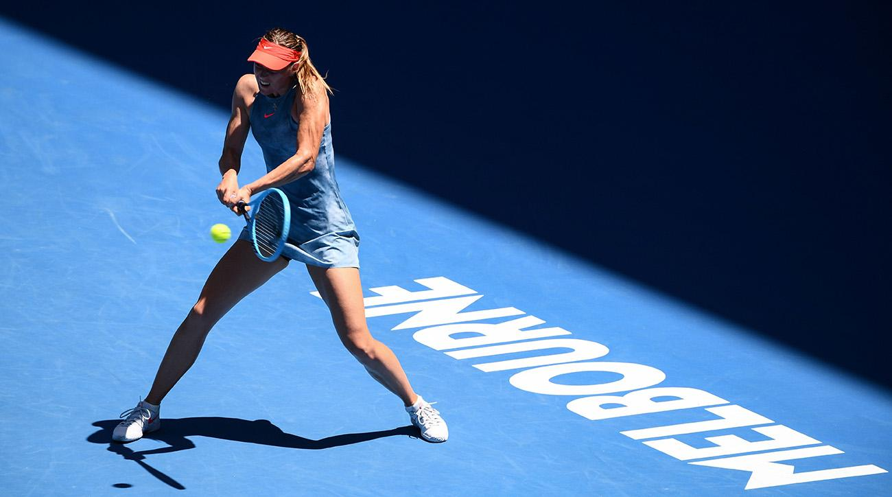 maria sharapova routs qualifier in first round of