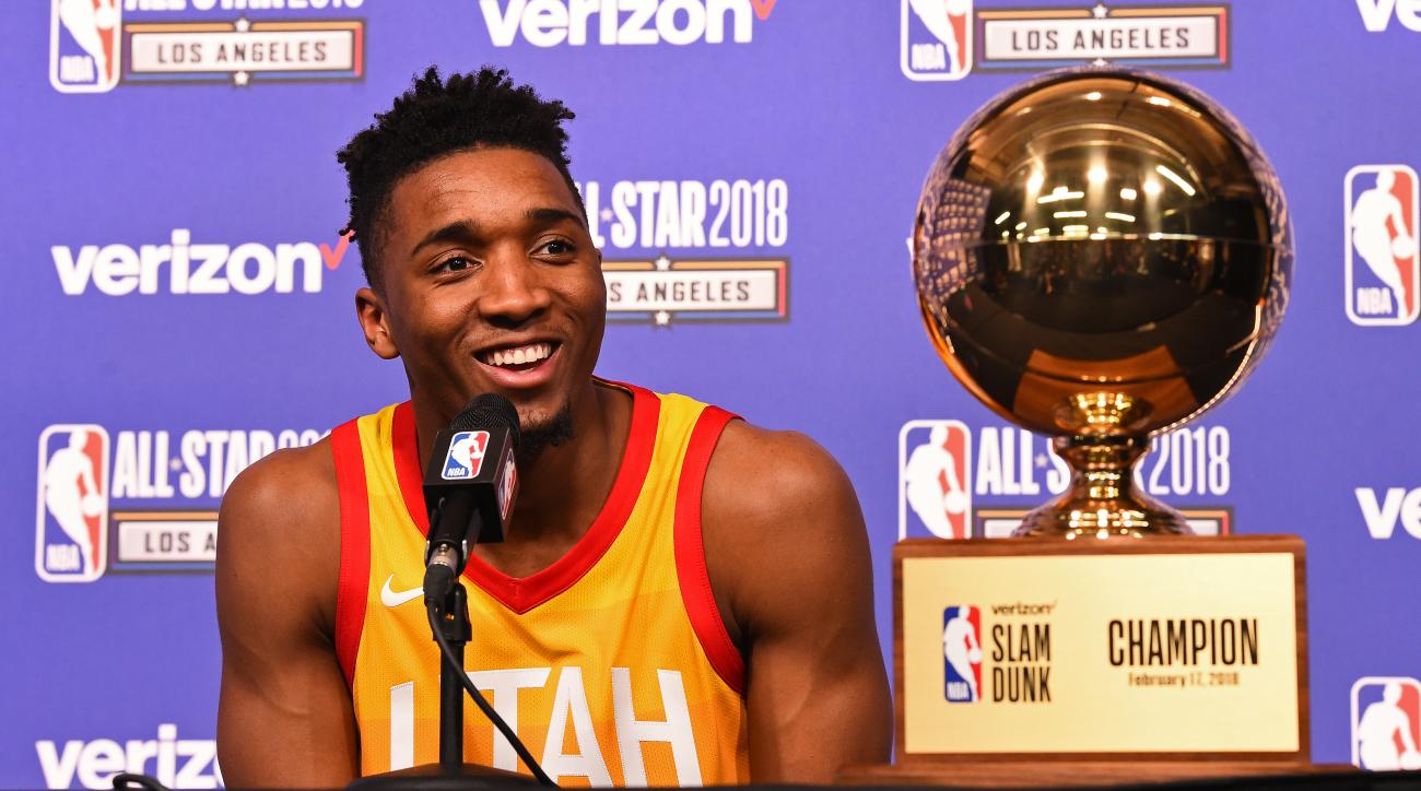 Watch: Jazz Guard Donovan Mitchell Says He Won't Defend Slam Dunk Contest Title