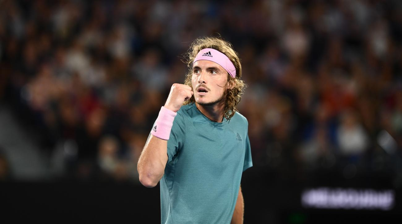 Stefanos Tsitsipas beats Roger Federer australian open