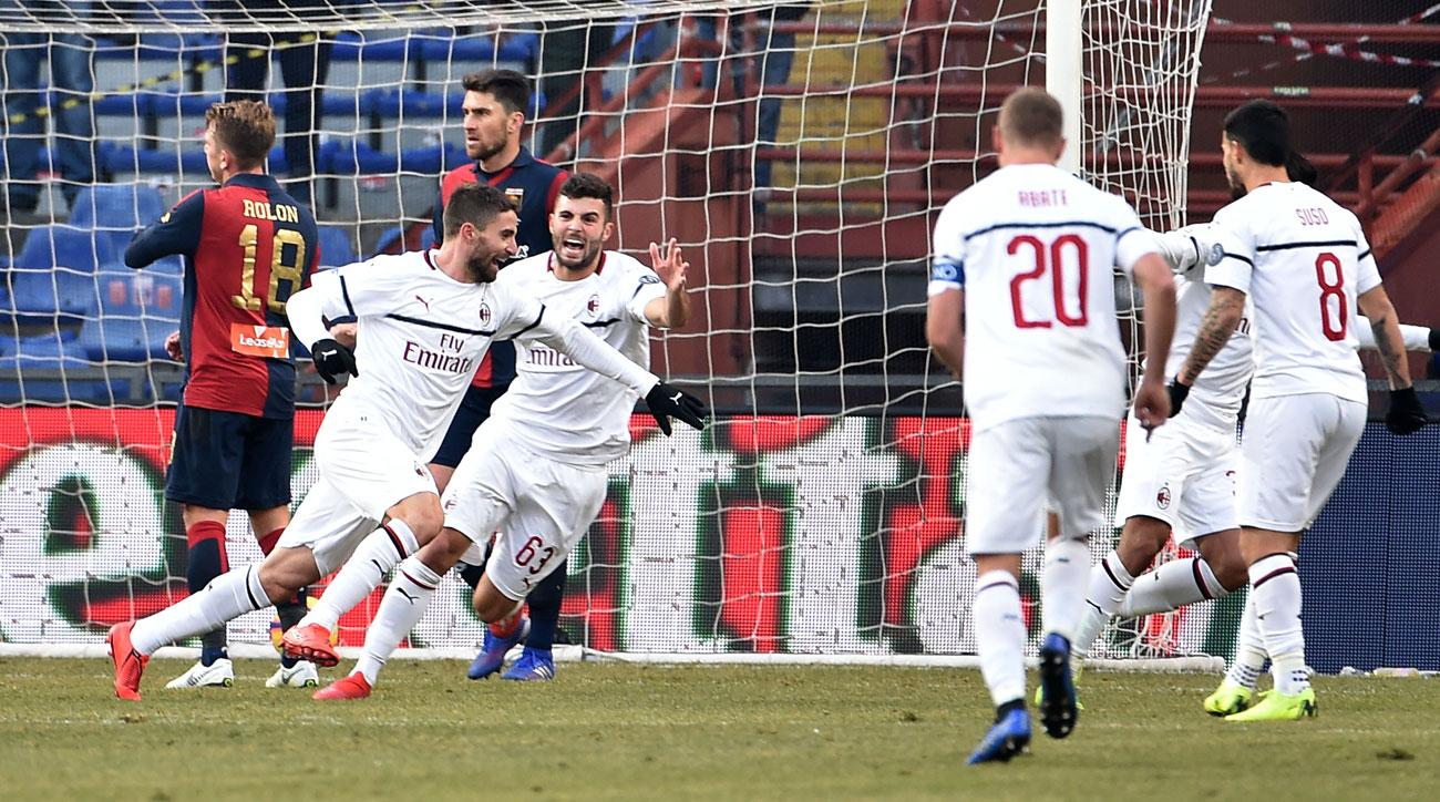 AC Milan Beats Genoa to Move Back Into 4th in Serie A
