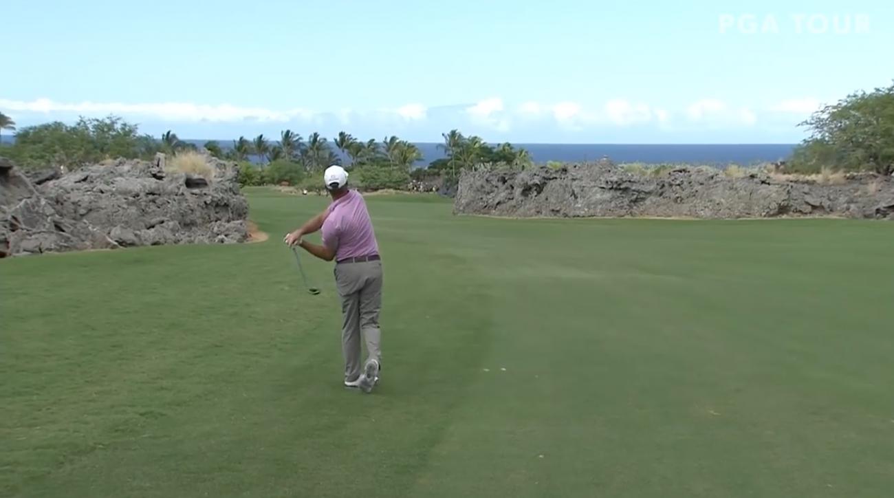 Jerry Kelly eagle: PGA Champions Tour golfer hits into lava (video)