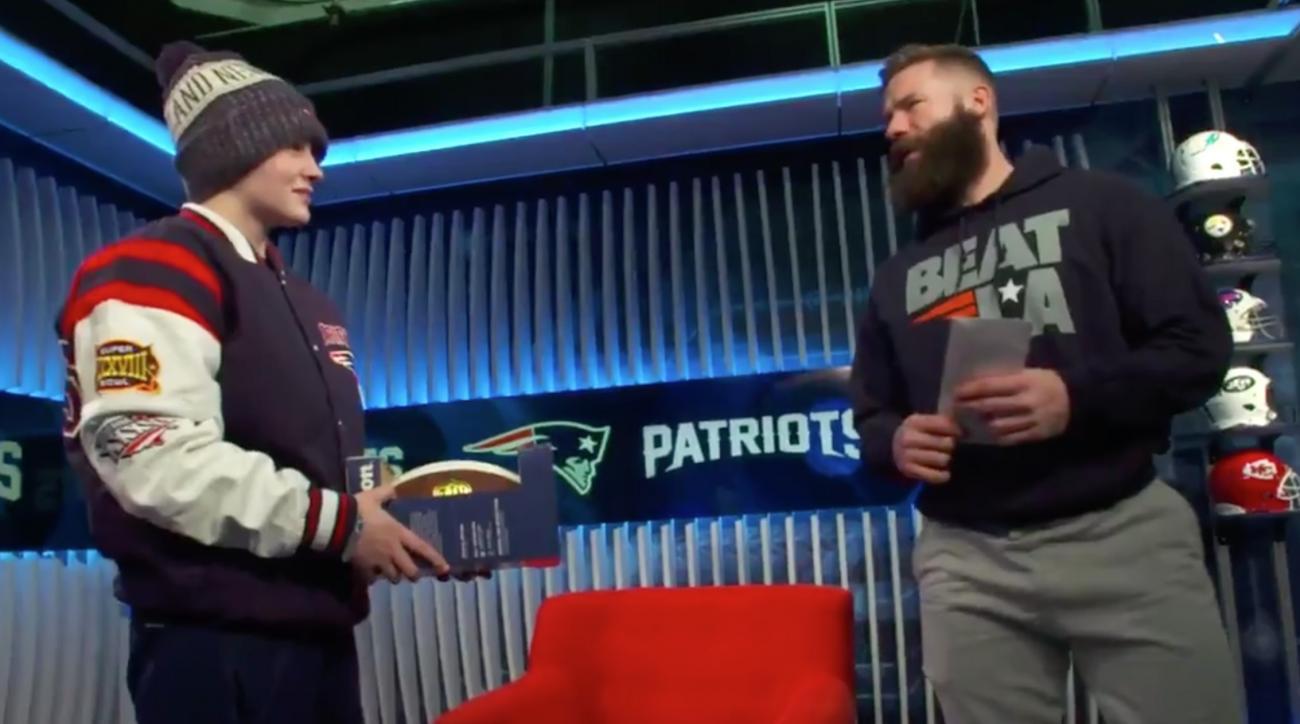 Julian Edelman gives Super Bowl tickets to bullied female QB