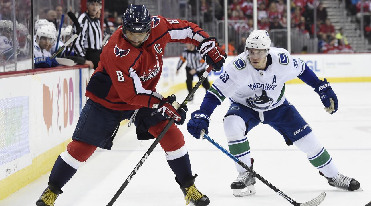 Vancouver Canucks v Washington Capitals