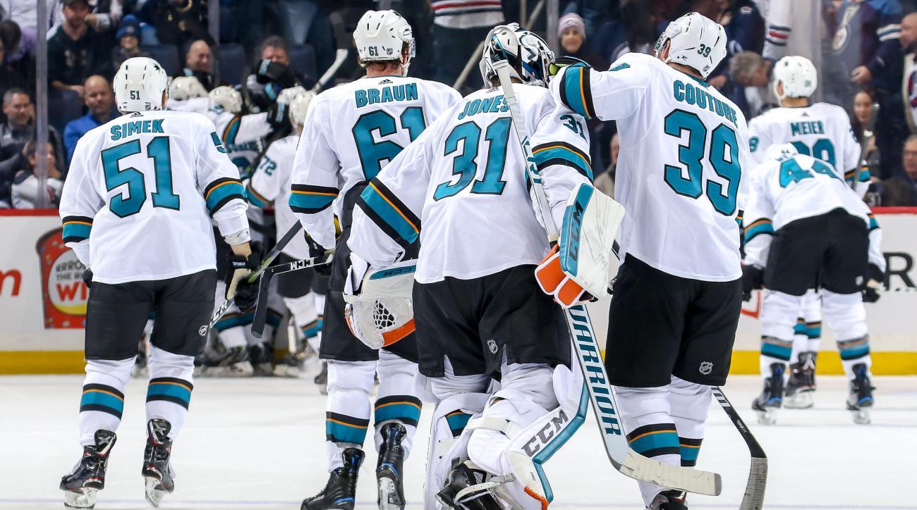 San Jose Sharks v Winnipeg Jets