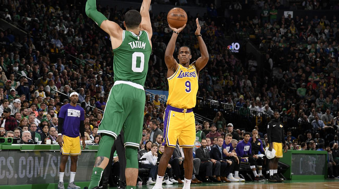 813c3dcb4fe Rajon Rondo game-winning shot vs Celtics video  Lakers win in Boston ...