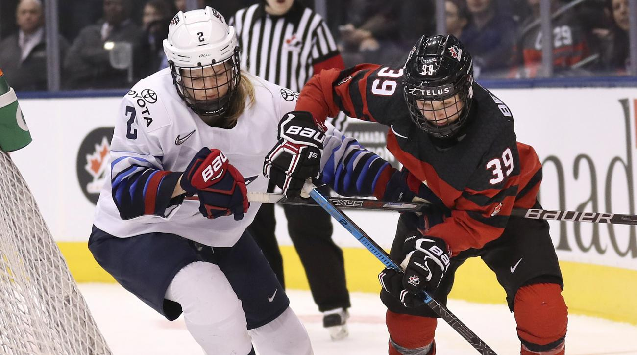 Canada vs USA women't hockey
