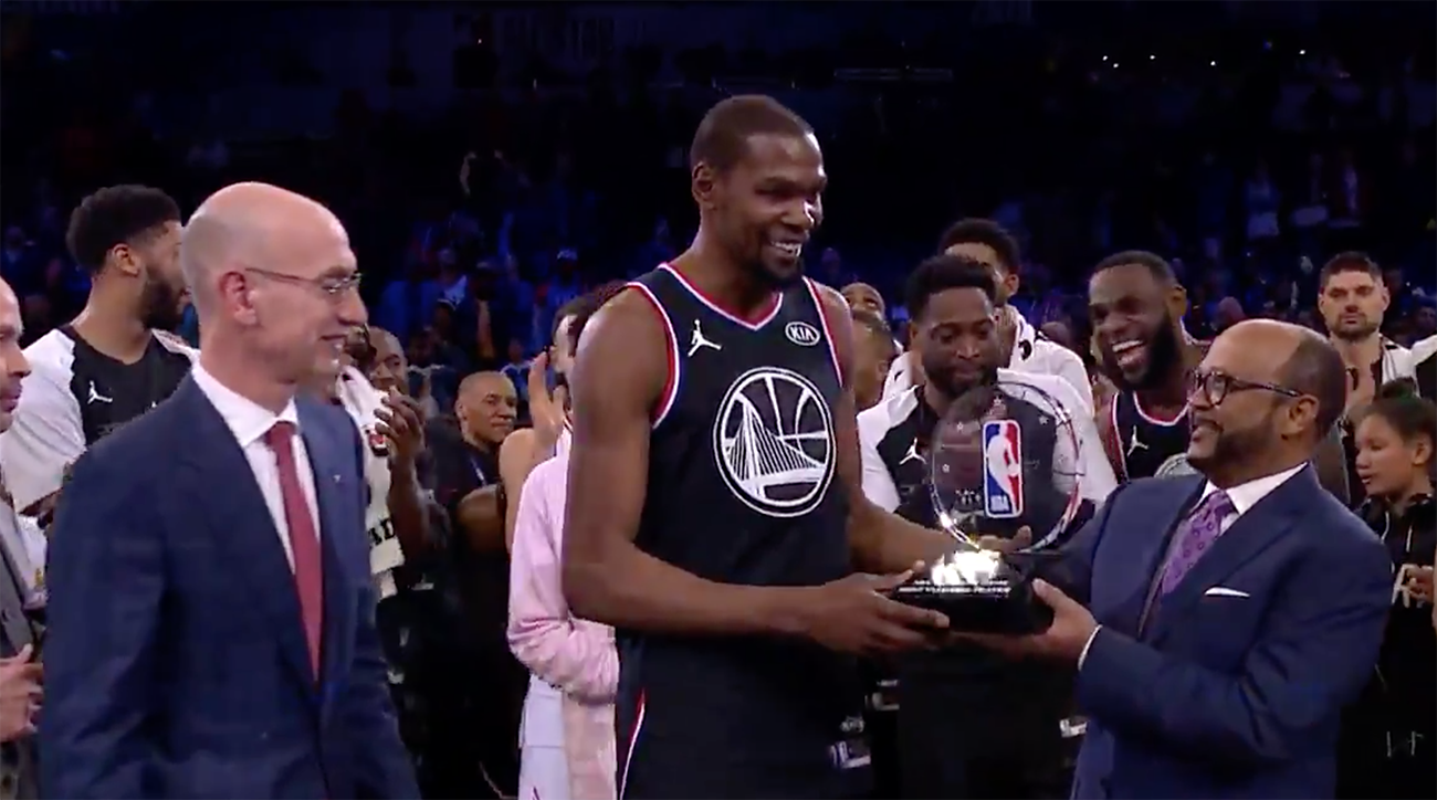 9ccefe3a3d8 Kevin Durant named NBA All-Star Game MVP in Team LeBron win